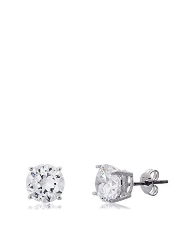 Bliss Sterling Silver 8mm 2 TCW Swarovski Elements Stud Earrings