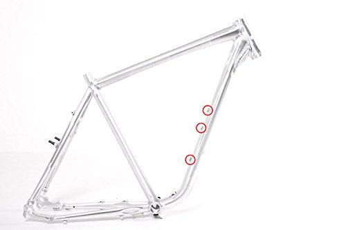 28″ Zoll Fahrrad Rahmen Trekking Herren Bike Pedelec 45cm poliert