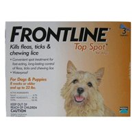 Frontline Top Spot for Dogs and Puppies, For 8 Weeks or Older Dogs and Up to 22 lbs - 3 Applicators