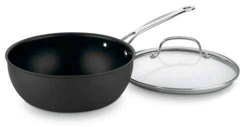 Cuisinart 635-24 Chef's Classic Nonstick Hard-Anodized 3-Quart Chef's Pan with Cover (Chef Cuisinart compare prices)
