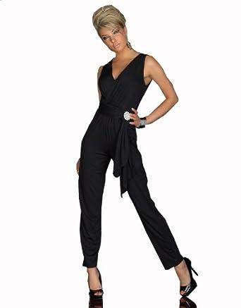 Elegant Elegant Black Sleeveless Fashion One Shoulder Rompers Womens Jumpsuit