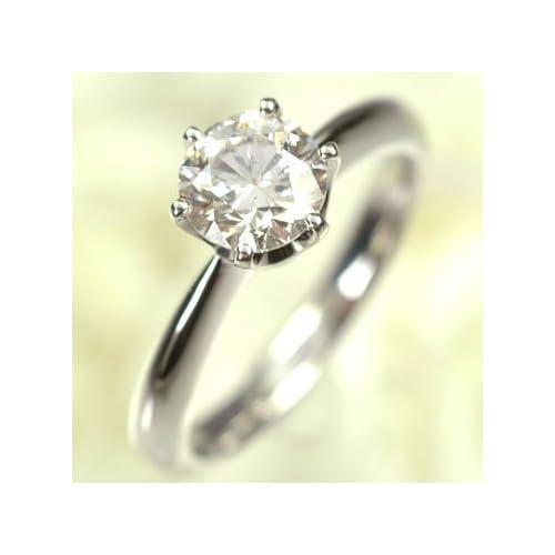 [キュートジュエリー]Cute jewerly ダイヤモンド 指輪 プラチナ ダイヤモンド1.0ct (鑑定書付) シンプルリング 13
