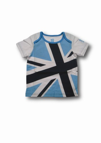 London 2012 Olympics Babies Union Jack T-Shirt for 12 - 18 Months (White/ Navy)