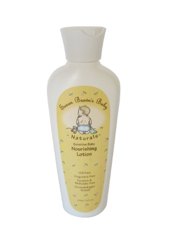 Susan Brown's Baby Sensitive Baby Nourishing Lotion, Oil & Fragrance Free , 7.6-Ounce Bottle