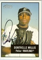 Dontrelle Willis Florida Marlins 2003 Bowman Heritage Autographed Hand Signed Trading... by Hall+of+Fame+Memorabilia