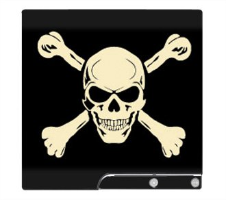 Jolly Roger Crossbone Skin for Sony Playstation 3 Slim Console