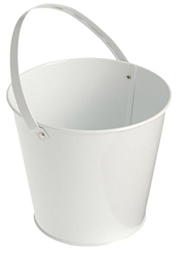 Metal Bucket (White) Party Accessory - 1