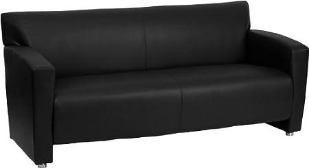 Flash Furniture 222-3-BK-GG Hercules Majesty Series Black Leather Sofa