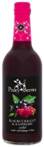 Pixley Berries Blackcurrant and Raspberry Cordial 500 ml (Pack of 6)