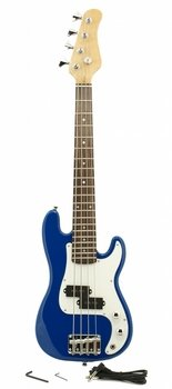 "ELECTRIC BASS GUITAR - BLUE - Small Scale 36"" Inch Childrens"