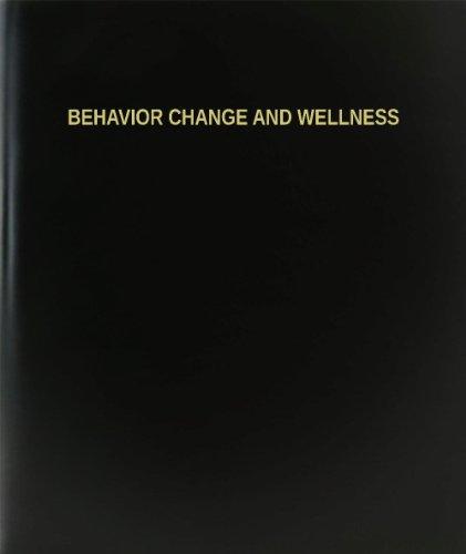 "Bookfactory® Behavior Change And Wellness Log Book / Journal / Logbook - 120 Page, 8.5""X11"", Black Hardbound (Xlog-120-7Cs-A-L-Black(Behavior Change And Wellness Log Book))"