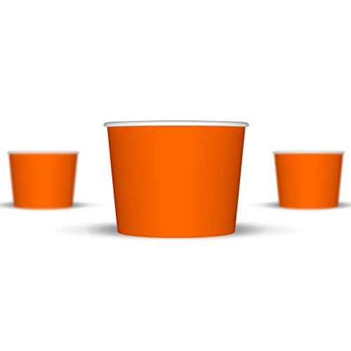 12 oz Ice Cream Cups, Orange Paper Cups, Birthday Party Cups-These Disposable Containers Are What You Need For Your Party, These Frozen Dessert Cups Are Great For Ice Cream, Or Other Sweet Treats! (Orange Ice Cream compare prices)
