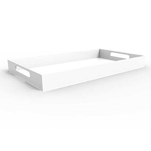 WHITE SERVING TRAY - Bright White - 20