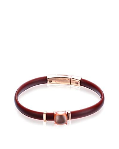 Alberto Moore Champagne Cabochon & Brown Silicone Bracelet As You See