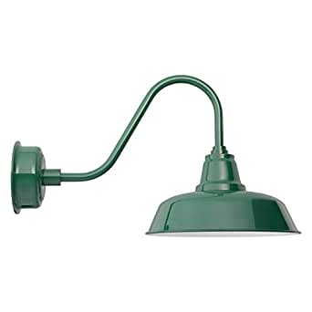 Cocoweb 10-Inch Goodyear Blue LED Wall Mounted Gooseneck Barn Light - Dimmable, Indoor / Outdoor ...