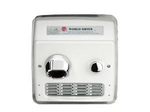 World Dryer Ra54-Q974 Hand Dryer, Recessed, 208-230, 10 Amp, Ada Handicap Compliant, Commercial Restroom