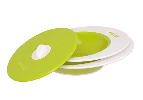 Beaba Ellipse Multi-Stage Bowl Set & Steaming Lid - Green