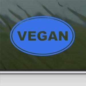 Vegan Blue Decal Car Truck Bumper Window Vinyl Blue Sticker