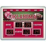 NCAA Licensed Oklahoma Sooners 14 x 19 Scoreboard Clock and Temperature Board by Team Sports America