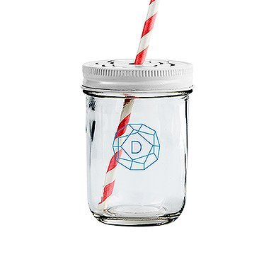 Wedding-Star-4482-PAD-4483-08-Glass-Mason-Jar-with-Rose-Cut-in-White-Lid-Printed-White-Pack-of-3
