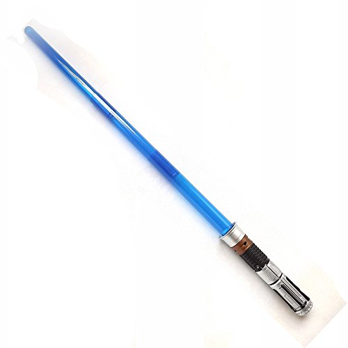IMBLINKY Extendable Star Lightsaber Light-up Swords with Blue LEDs and Sounds Glow in the Dark Kids Light Saber Toy