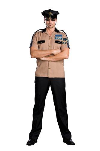[Women's Highway Patrol Officer Dusty R (As Shown;Large)] (Highway Patrol Costume)