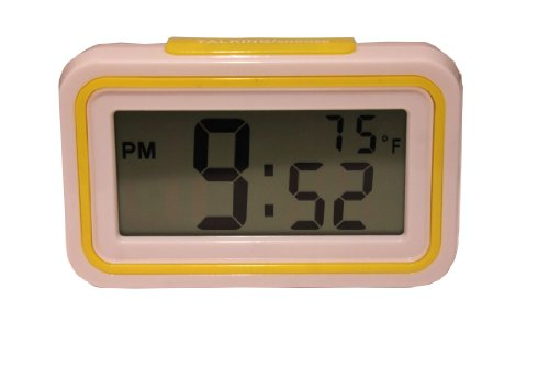 AndAlso Multi function Alarm Clock Date Time Calender Temperature Desk Table (Assorted Color Sent)