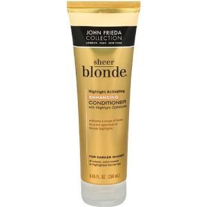John Frieda Sheer Blonde Enhancing Conditioner for Darker Shades, 8.45-Ounce Bottle (Pack of 3)