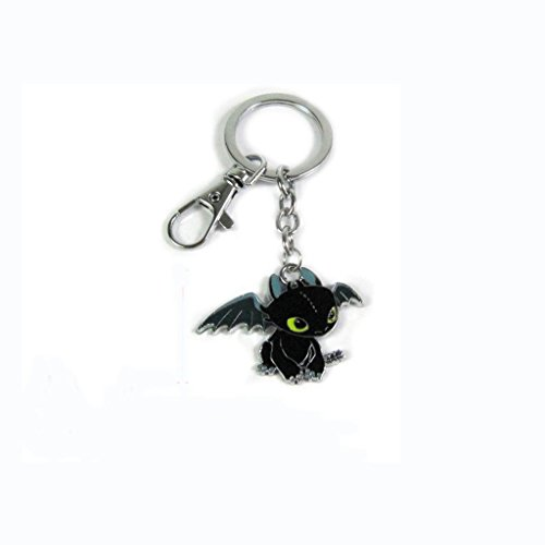 How to Train Your Dragon Night Fury Toothless Figure Shaped Keychain - 1