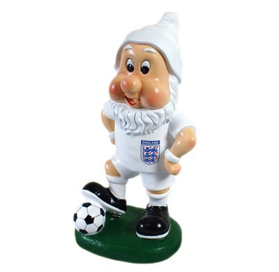 England Garden Gnome - White - Football Gifts
