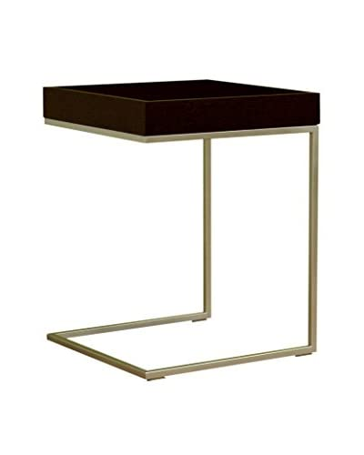 Baxton Studio Quarantino Oak End Table, Black