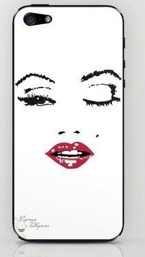 並行輸入品マリリン・モンロー society6 iphone 5/5sステッカー (Marilyn10)