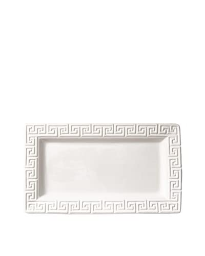 Happy Chic by Jonathan Adler Elizabeth Greek Key Serving Platter, White