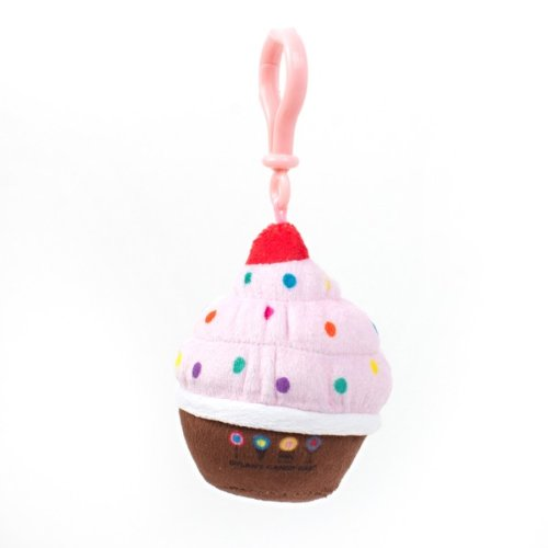 Dylan's Candy Bar Plush Cupcake Keychain