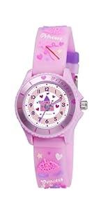 Tikkers TK0036 - Reloj analógico de cuarzo para niña con correa de caucho, color rosa