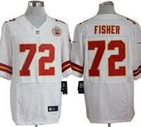 Eric Fisher Kansas City Chiefs White Jersey Size 52 XXL by LEAGUE GEAR