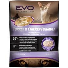 Detail image EVO Turkey and Chicken Formula Dry Cat Food