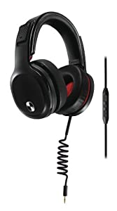Philips SHO9207/28 O'Neill Crash Virtually Indestructible Over-Ear Headphones with Microphone, Black