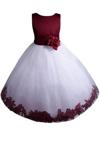 AMJ платья Inc девушки бордовый цветок девушка праздничное платье (Размер 2)