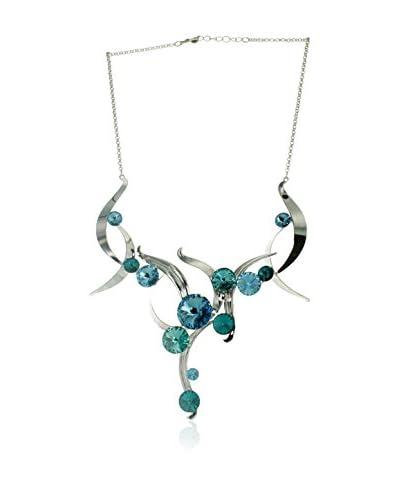 Crystal from Swarovski Girocollo Blu/Argentato