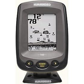 Humminbird PiranhaMAX 160 4-Inch Waterproof Fishfinder and Dual-Beam Transducer