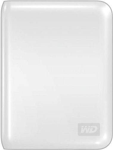Western Digital My Passport Essential 500GB USB 2.0 Portable External Hard Drive - Artic White