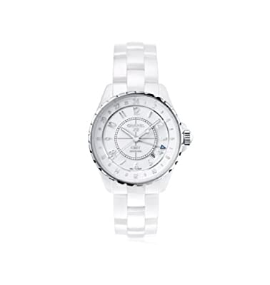Chanel J12 Automatic GMT White High-Tech Ceramic Ladies Watch H3103 from designer Chanel