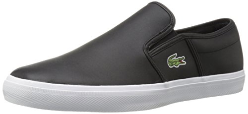 Lacoste Men's Gazon 316 1 Spm Fashion Sneaker, Black, 10.5 M US