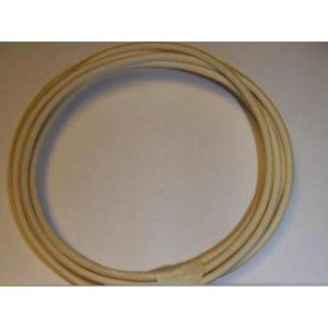 18 Ga Cotton Braided Wire, 10 Foot Section. Color: White