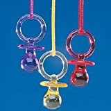 12 pc Girl Boy Unisex Baby Shower Pacifier Necklace Game