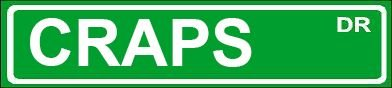 Novelty CRAPS street sign 4″x18″ aluminum wall art man cave garage décor