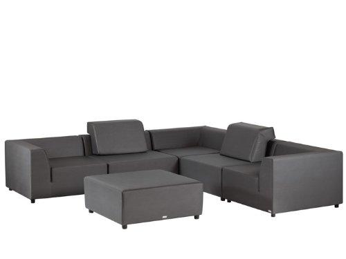 BELLO Lounge Gartenmöbel Lounge Gartenset 6-teilig Silvertex
