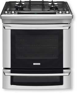 """Electrolux Ew30Ds65Gs 30"""" Dual-Fuel Slide-In Range With Wave-Touch® Controls And Luxury-Glide® Oven Ra, Stainless Steel"""