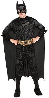 Batman Dark Knight Rises Child'S Batman Costume With Mask And Cape - Large front-636377